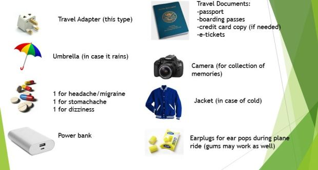 things to bring